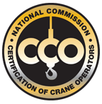 National Commission Certification Of Crane Operators logo; Eastland Crane is NCCCO certified.